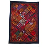 Banjara Patchwork Embroidery Throw Rabari Wall Tapestry Tribal Hanging