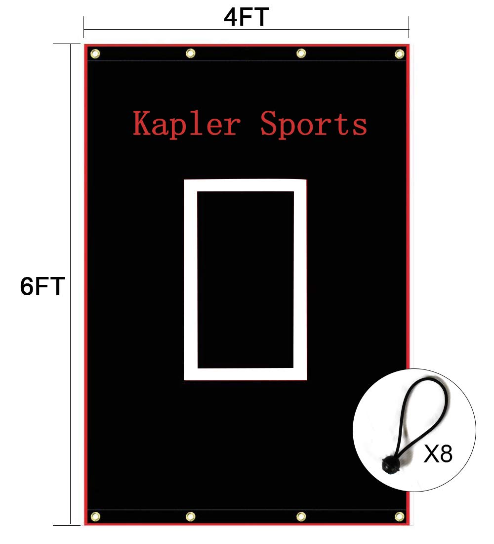 Kapler Vinyl Backstop Baseball/Softball Tarpaulin Backstop Batting cage Target with Bungees 4x6 by Kapler
