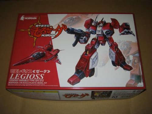 - Robotech Genesis Climber Mospeada Legioss Variable Type AFC-01Z Red 1/48 model kit by Aoshima