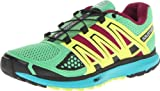 Cheap Salomon Women's X Scream W Trail Running Shoe,Wasabi/Moorea Blue/Fluorescent Yellow,10 M US