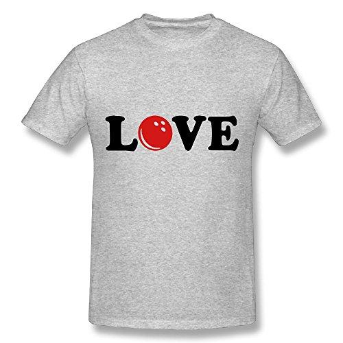 Marcolianna Bowling Mens Tee Shirt Organic Bamboo Short Sleeve T-shirt Gray Medium (Mens Organic Bowling T-shirt)