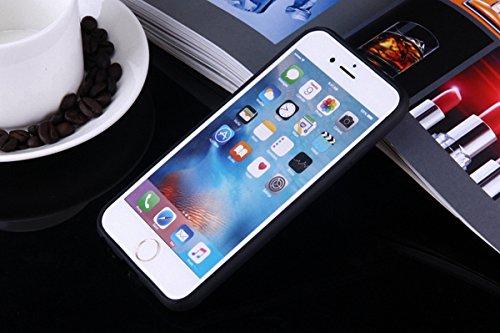 König-Shop Handy Hülle Mandala für Apple iPhone 8 Plus Design Case Schutzhülle Motiv Ägyptische Zeichen Cover Silikon Tasche Bumper Schwarz