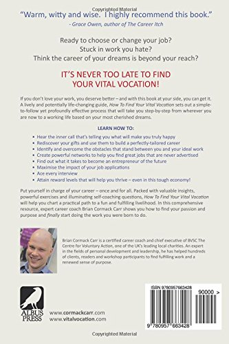 how to find your vital vocation a practical guide to discovering your career purpose and getting a job you love brian cormack carr 9780957663428 - Can T Find A Job How To Find A Job In This Tough Economy