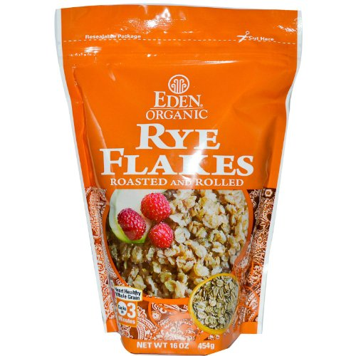 (Eden Foods Organic Rye Flakes Roasted and Rolled 16 oz 454 g)