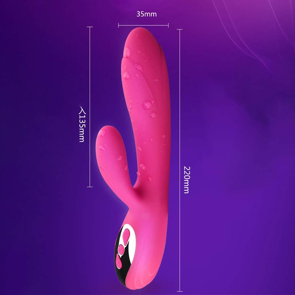 Vibratore Femminile Caldo Caldo Caldo Doppio Massaggio A Vibrazione Bastone Dispositivo Di Masturbazione Silicone G Punto (Rosa Rossa) 2e2a09