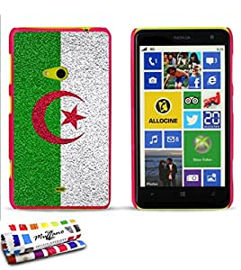 Carcasa Rigida Ultra-Slim NOKIA LUMIA 625 de exclusivo motivo [Algerie Bandera] [Rosa caramelo] de MUZZANO  + ESTILETE y PAÑO MUZZANO REGALADOS - La Protección Antigolpes ULTIMA, ELEGANTE Y DURADERA para su NOKIA LUMIA 625