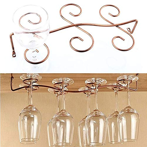 Red Wine Cabinet - 1pc 6 8 Wine Glass Rack Stemware Hanging Under Cabinet Holder Bar Screws - Copper Free Steel Short Carlisle Under Rubbed Large Commercial Stainless Glass Stemware Bronze In