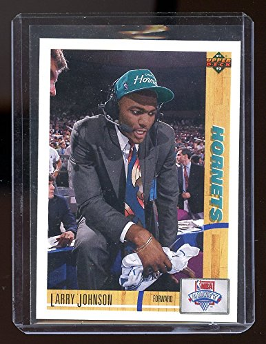 1991-92 Upper Deck #2 Larry Johnson Rookie Card - NM/Mint Condition Ships in a New Holder (1991 92 Upper Deck)