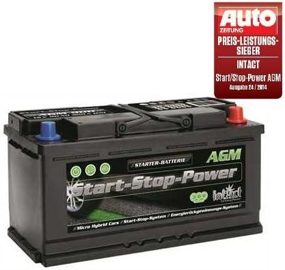 Intact AGM 900 Start Stop Autobatterie 12V 90 Ah 900 A Preis-Leistung-SIEGER GT/Ü 2014