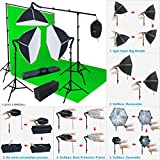 LINCO Lincostore Photo Light Softbox Backdrop Stand Muslin Kit AM138 - Large Size Green Screen