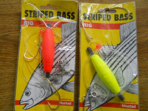 - Closeout 12 Striped Bass Rigs Jeros 75-cs Double Hook Swivel Float Assortment