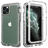 Cubevit iPhone 11 Pro Max Shockproof Clear Case with Built-in Screen Protector, Anti-Drop Anti-Scratch Full-Body Protective Phone Case, [Lifetime Replacement] Rugged Dual-Layer Case Cover 2019(6.5')