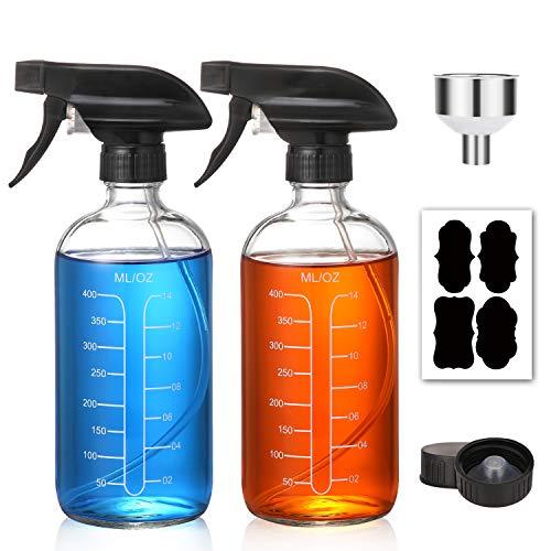 Clear Glass Spray Bottles Measurements