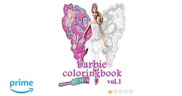 Amazon Barbie Coloring Books Book VoL1 Stress Relieving 9781548446741 Alexa Cosmo
