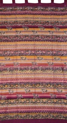 Little Elephants Tab Top Curtain Drape Panel Cotton 44
