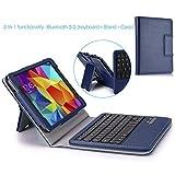 MoKo Wireless Bluetooth Keyboard Cover Case for Samsung GALAXY Tab 4 8.0 inch, Indigo