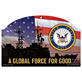 United States Military U.S. Navy Wood Sign 11'' by 17''U.S. Navy Wood Sign, Numerous, One Size