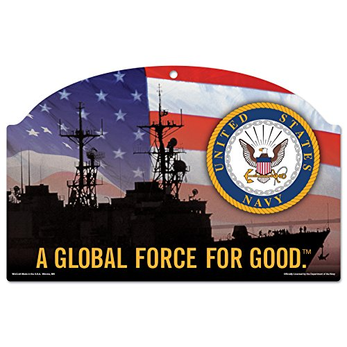 United States Military U.S. Navy Wood Sign 11'' by 17''U.S. Navy Wood Sign, Numerous, One Size by WinCraft