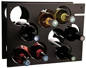 L'Atelier du Vin 095220-9 City Rack - Botellero (capacidad 9 botellas), color negro