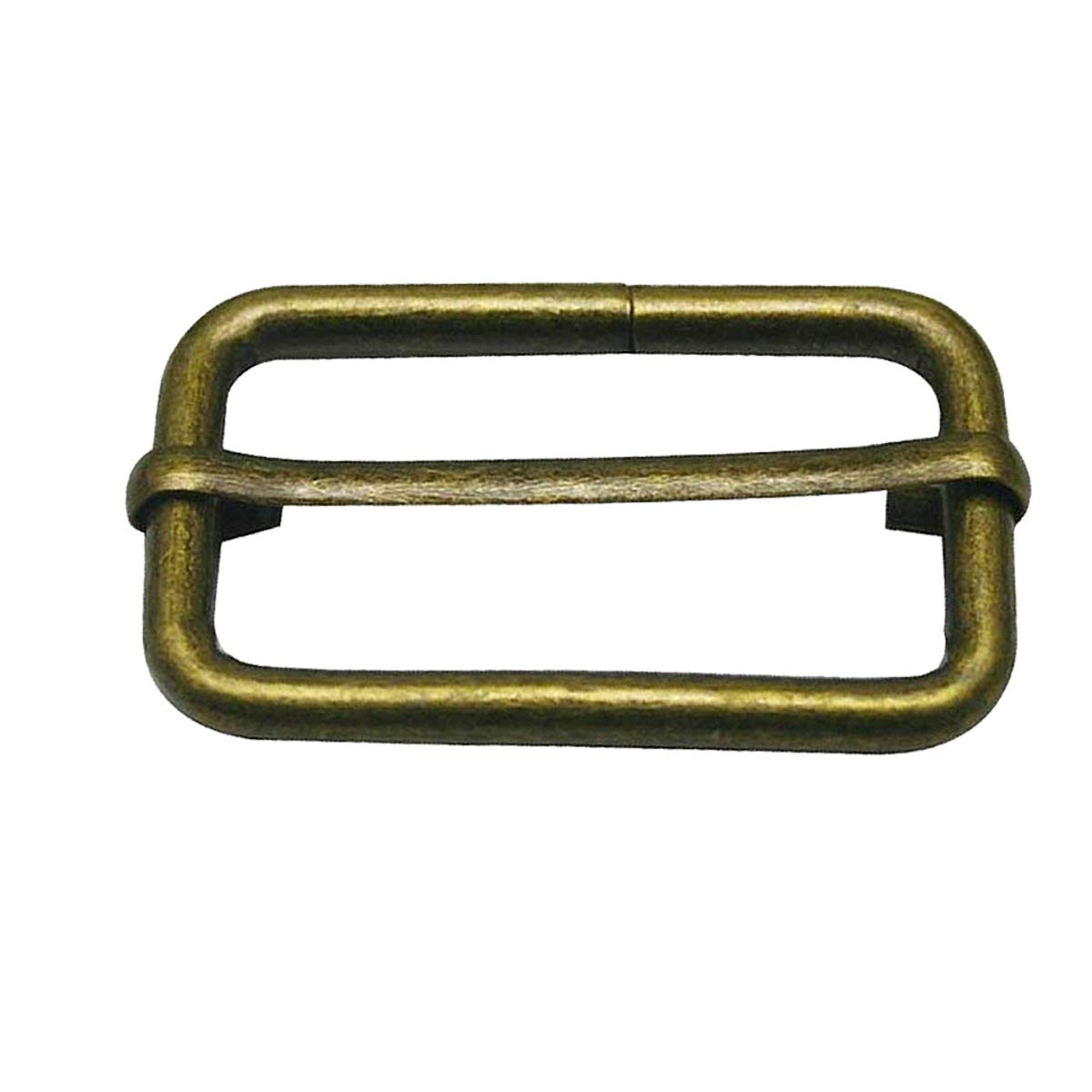 Trimming Shop 38mm Triglide Gold Slider Buckle for Webbing Straps, Backpack, Fasteners Strap, Pet Collars and Bag Accessories, Durable, Lightweight, Pack of 2