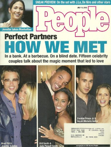 Brad Pitt and Jennifer Aniston / Will Smith and Jada Pinkett / Freddie Prinze Jr. and Sarah Michelle Gellar - July 15, 2002 People Weekly Magazine