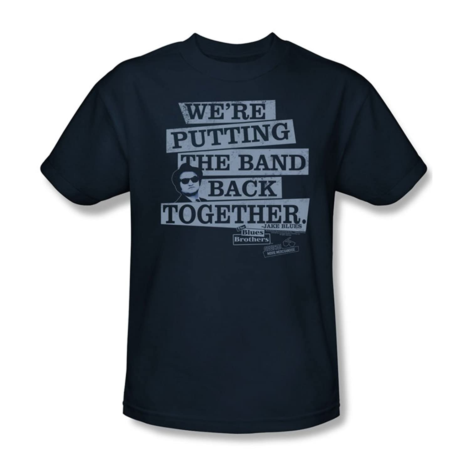 Blues Brothers - Mens Band Back T-Shirt In Navy