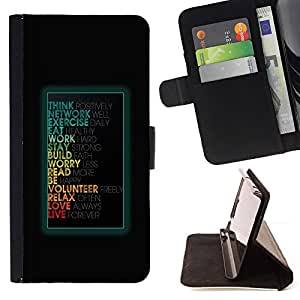 BullDog Case - FOR/Sony Xperia Z3 D6603 / - / Funny Motivational Message /- Monedero de cuero de la PU Llevar cubierta de la caja con el ID Credit Card Slots Flip funda de cuer