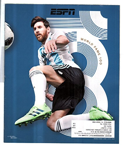 Espn Magazine June 4 2018 World Fame 100 Argentina S Lionel Messi