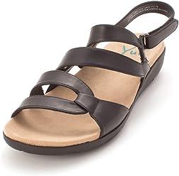 43e46484165a8 Yuu Womens Janne Open Toe Casual Strappy Sandals