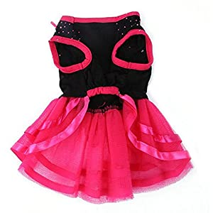 Small Dog Clothes Dress Blingbling Tutu Lace Skirt for Small Pet Cat Dogs Puppy