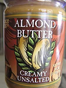 Trader Joe's Creamy Unsalted Almond Butter, 16-ounce Jars (Pack of 3)