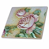 3dRose LLC ct_14481_4 Roses in Ceramic Tile, 12-Inch