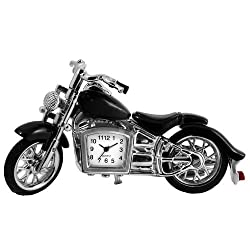 StealStreet SS-KD-3265 Cruiser Motorcycle Clock Decor Accurate Quartz, 4.5, Black