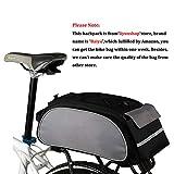 Baiyu Multi Function Bike Bicycle Rack Bag Seat Cargo Bag Rear Pack Trunk Pannier Handbag Shoulder Bags Bike Pouch Back Seat Packs Rear Rack Tail Packets 13L (Black)
