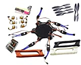 QWinOut F550 RC Hexacopter Unassembly DIY Drone PNF Combo Set QQ Super Flight Control Board (No Battery/TX/RX)