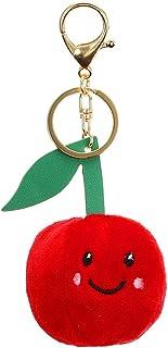 bromrefulgenc Key Chain for Men Women,Cute Fruit Apple Plush Doll Pendant,Keychain Key Ring Holder for Bag Phone Decor Apple