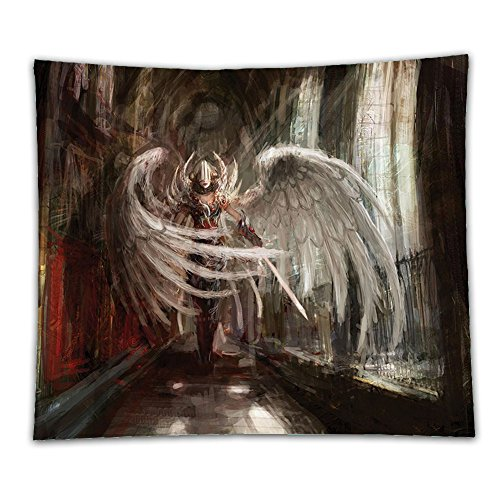Cyborg Costume For Sale (Beshowereb Fleece Throw Blanket Beshowereb Fleece Throw Blanket Beshowereb Fleece Throw Blanket Fantasy House Decor Collection Cyborg Angel Girl Warrior with Sword in Gothic Ancient Historical Archi)