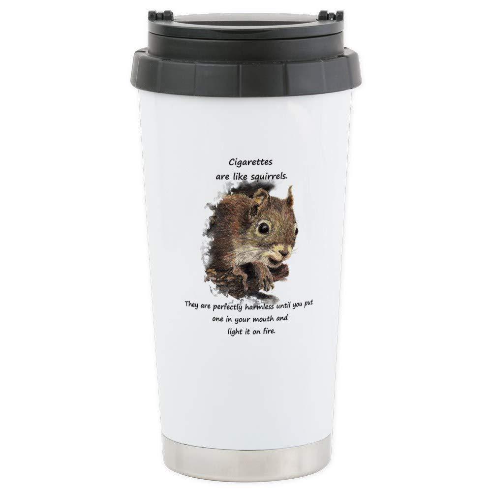 CafePress – Funny Quit Smoking Squirrel Quote Travel Mug – ステンレス鋼旅行マグ、断熱16オンスコーヒータンブラー   B073QTJ53X