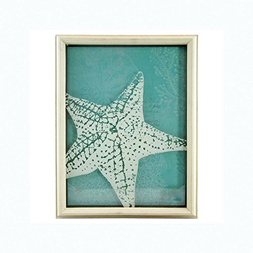 (Unison Gifts Arg-118 16 inch Turquoise with White Star Fish Shadowbox)