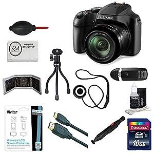 Panasonic Lumix DC-FZ80 Digital Camera (12 items) + 16GB Card + Accessory Bundle