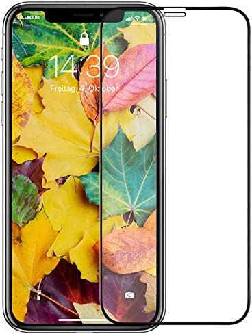 iPhone 11 PRO Screen Protector, [9H Anti-scratch] Premium 5D Curved Edge Full Coverage Tempered Glass Screen Protectors for iPhone 11 PRO/X/XS 5.8″ Film [Compatible Face ID]