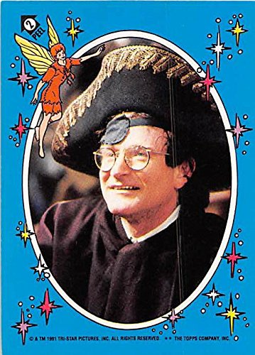 (Robin Williams trading card sticker 1991 Topps Hook Disney)