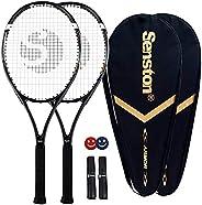 Senston Tennis Racket-27 inch 2 Players Tennis Racket Professional Tennis Racquet,Good Control Grip,Strung wit