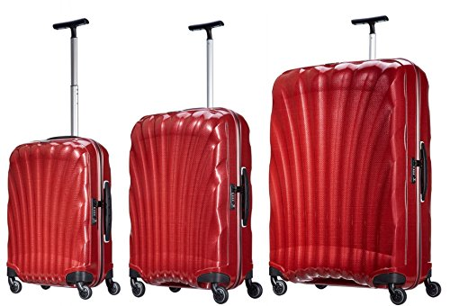 Samsonite Luggage Black Label Cosmolite 3 Piece Spinner Luggage Set (One size, Red) ()