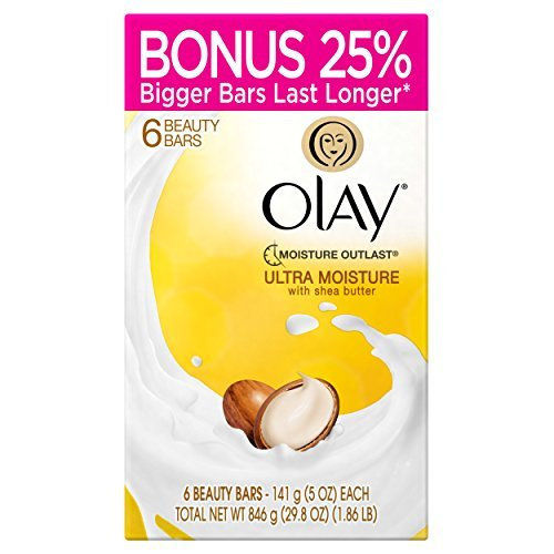 Olay Ultra Moisture Beauty Bars with Shea Butter 6 ct - 5 oz (4 oz bar with bonus - 25% more (Olay Ultra Moisture)