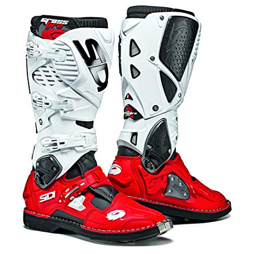 Sidi Crossfire 3 SRS CE Black White Red Motocross Enduro Boots Size EC 41