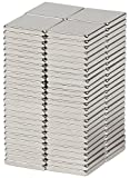 "BYKES Neodymium Super Strong Extremely Powerful Rare Earth Refrigerator Magnets 1/2"" x 1/2"" x 1/16"" Square N42 - Set of 80"