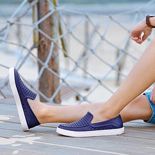 Scuro Blu Buco da On Sandali Spiaggia all'Aperto Scarpe Anguang Scarpe Uomo Mocassini Slip Casual 7Eqw6O
