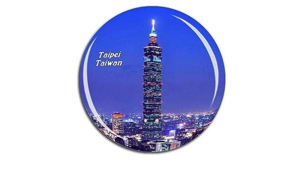 Amazon.com: Taipei 101 Taiwan Fridge Magnet 3D Crystal Glass ...