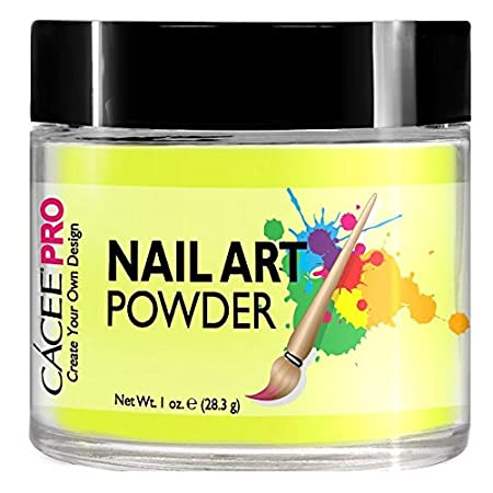 Acrylic Nails Colored Powder For Nail Art, 1oz Jar Blue Glitter, #30 By Cacee (Art Powder), Great Addition For Any Professional Acrylic Nail Kit, Premix of Pigments, Glitter, & Metallic Effects